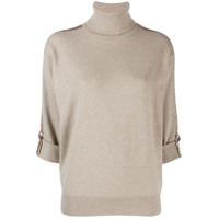 Brunello Cucinelli D-Ring Sleeve Jumper - Neutro