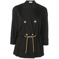 Brunello Cucinelli Double Breasted Blazer - Preto