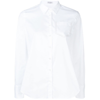 Brunello Cucinelli Fitted Long Sleeved Shirt - Branco