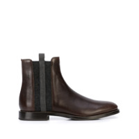 Brunello Cucinelli Flat Ankle Boots - Marrom