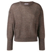 Brunello Cucinelli glitter-look knit jumper - Cinza