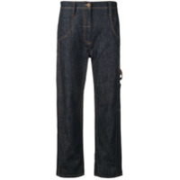 Brunello Cucinelli High Rise Cropped Trousers - Azul