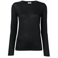 Brunello Cucinelli Long-Sleeve Fitted Sweater - Preto