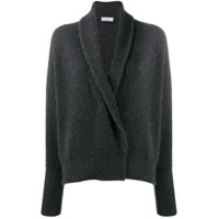 Brunello Cucinelli Ribbed Cardigan - Cinza
