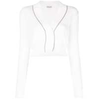 Brunello Cucinelli Ribbed Knitted Cardigan - Branco