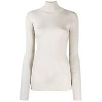 Brunello Cucinelli Roll Neck Sweater - Prateado