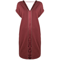 Brunello Cucinelli Short V-Neck Dress - Vermelho