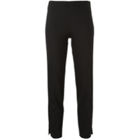 Brunello Cucinelli Slim Cropped Trousers - Preto