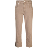 Brunello Cucinelli Calça Cropped - Neutro