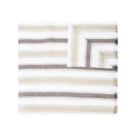 Brunello Cucinelli Striped Frayed Scarf - Branco