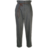 Brunello Cucinelli Tailored Cropped Trousers - Cinza