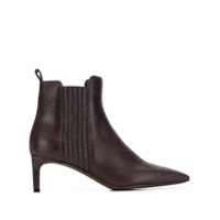 Brunello Cucinelli Textured Ankle Boots - Marrom