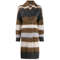 Brunello Cucinelli Textured Cardigan Coat - Marrom