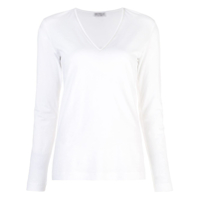 Brunello Cucinelli V-Neck Sweater - Branco