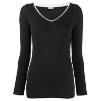 Brunello Cucinelli V-Neck Sweater - Cinza
