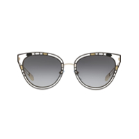 Bulgari Cut Out Trim Sunglasses - Preto