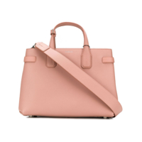 Burberry The Medium Banner In Leather And Vintage Check - Rosa