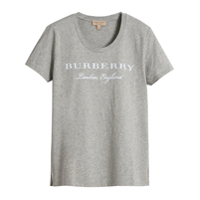 Burberry Camiseta Estampada - Cinza