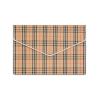 Burberry Clutch Envelope Xadrez Grande - Neutro