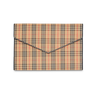 Burberry Clutch Xadrez Grande - Neutro
