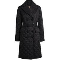 Burberry Trench Coat Matelassê - Preto