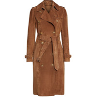 Burberry Suede Trench Coat - Marrom