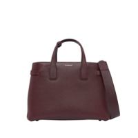 Burberry The Medium Banner In Leather And Vintage Check - Vermelho