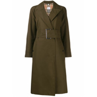 Burberry Trench Coat Com Cinto - Verde