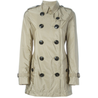 Burberry Trench Coat Impermeável Com Cinto - Neutro
