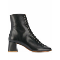 By Far Ankle Boot Com Cadarço - Preto