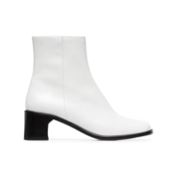 By Far Ankle Boot De Couro 'jeane 55' - Branco