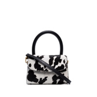 By Far Bolsa Transversal Com Estampa De Vaca Mini - Preto