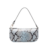 By Far Rachel Snake Effect Shoulder Bag - Azul