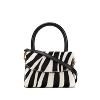 By Far Bolsa Tote Mini Com Estampa De Zebra - Preto