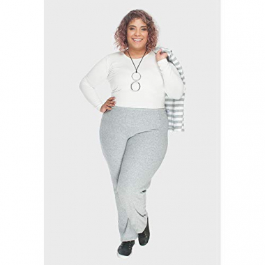Calça Canyon Plush Buckle Plus Size Cinza-46