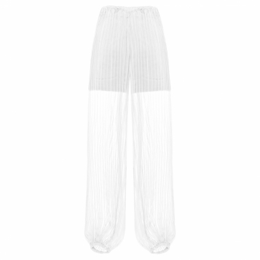 Calça Chiffon Pleats - Off White