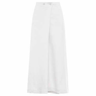 Calça Feminina Pantacourt Envelope - Off White