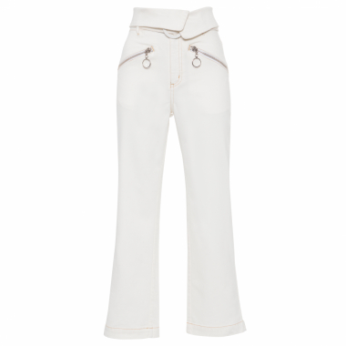 Calça Feminina Sarja Boston - Off White