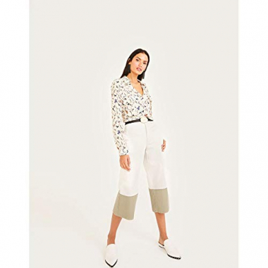 Calca Jeans Cropped Barra Contraste-Off White-44