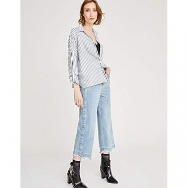Calca Jeans Cropped Botoes-Azul-40