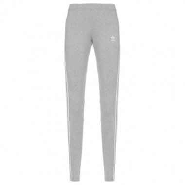 Calça Legging 3 Stripes Adidas Originals - Cinza