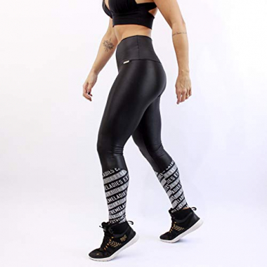 Calça Legging Extreme Ladies Must Have Power - Feminino - Preto/prata - M