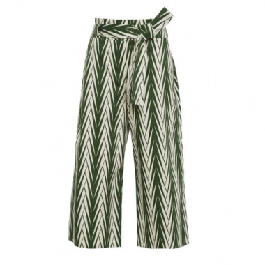 Calça Pantacour Clochart Shoulder - Verde