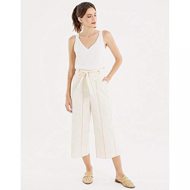 Calca Pantacourt Clochard-Off White-40