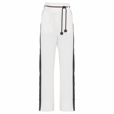 Calça Pantalona Shoulder - Off White