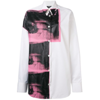 Calvin Klein 205W39Nyc Camisa Oversized 'x Andy Warhol Foundation Little Electric Chair' - Branco