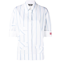 Calvin Klein 205W39Nyc Striped Short-Sleeve Shirt - Branco