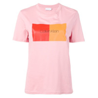Calvin Klein Colour Block T-Shirt - Rosa