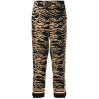 Cambio Patterned Cropped Trousers - Preto