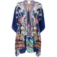 Camilla Mini Kaftan Dress - Azul